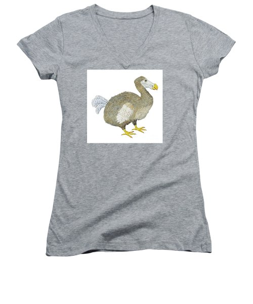 Dodo Bird Protrait Women's V-Neck