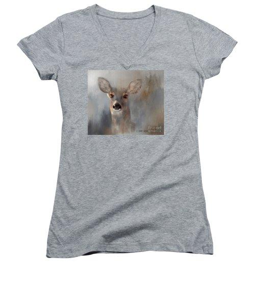 Doe Eyes Women's V-Neck T-Shirt