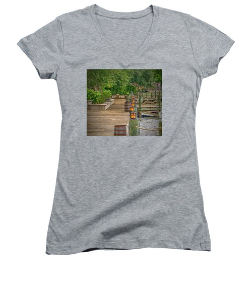 Down By The Boardwalk Women's V-Neck T-Shirt