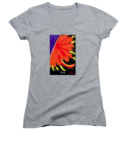 Dog Women's V-Neck T-Shirt (Junior Cut) by Clarity Artists