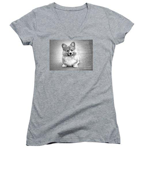 Puppy - Monochrome 6 Women's V-Neck