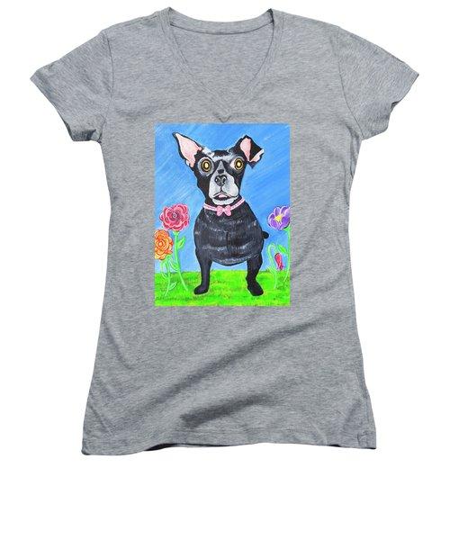 Doggone Delightful Women's V-Neck (Athletic Fit)