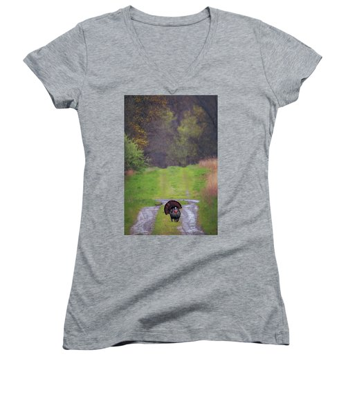 Doing The Turkey Strut Women's V-Neck