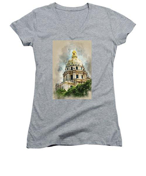 Dome Des Invalides Women's V-Neck T-Shirt
