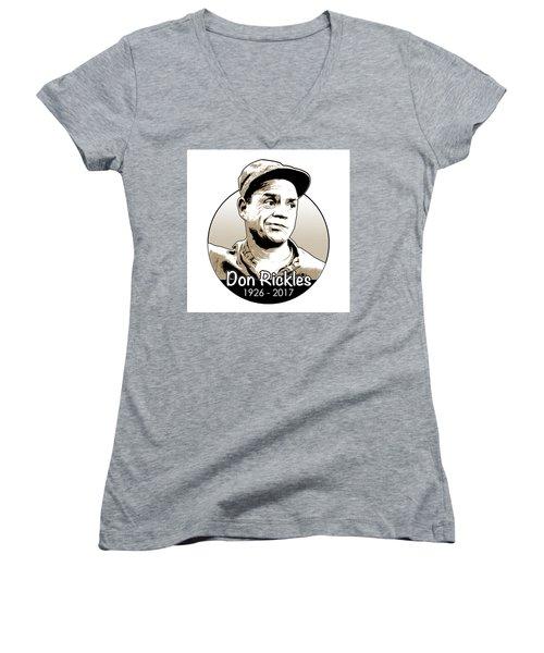 Don Rickles Women's V-Neck T-Shirt (Junior Cut) by Greg Joens