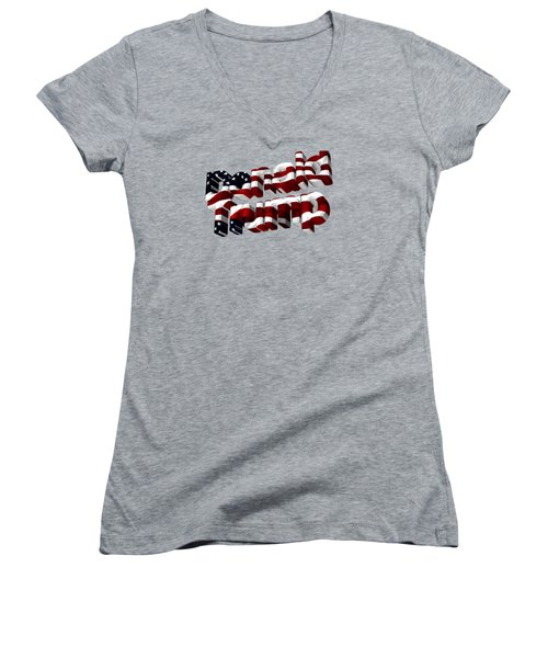 Donald Trump Women's V-Neck T-Shirt (Junior Cut) by Ericamaxine Price