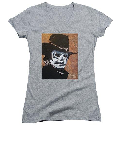Don't Take Your Cash To Town Women's V-Neck T-Shirt (Junior Cut) by Stuart Engel