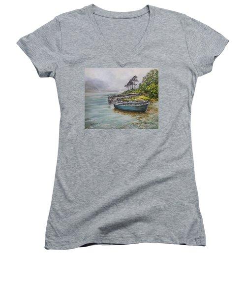 Doolough View Women's V-Neck T-Shirt