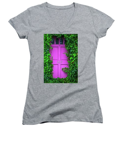 Door 229 Women's V-Neck T-Shirt (Junior Cut) by Darren White