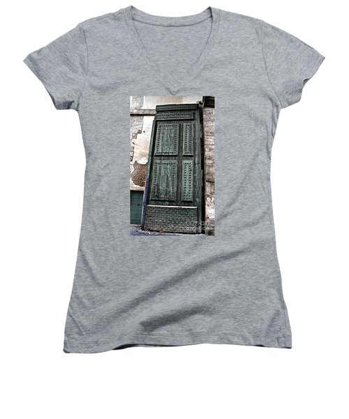 Door To The Roman Gateway Women's V-Neck (Athletic Fit)