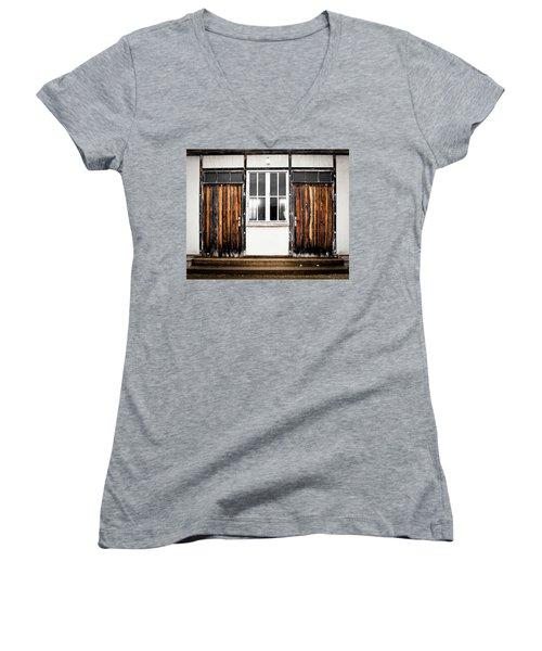 Doors Of Dachau Women's V-Neck T-Shirt