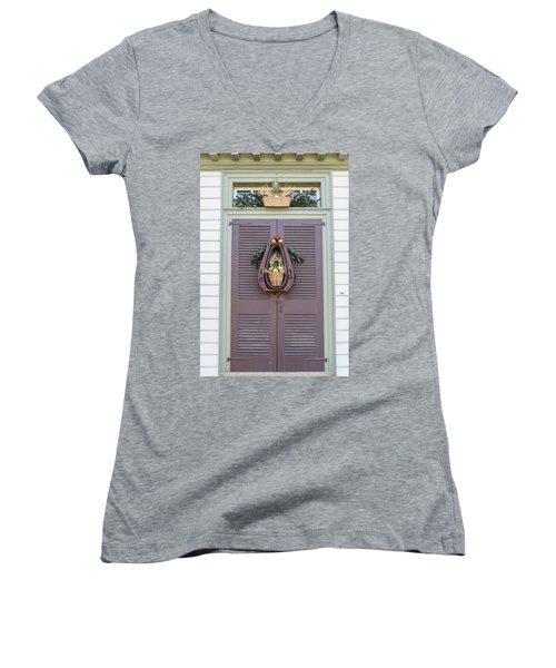 Doors Of Williamsburg 91 Women's V-Neck (Athletic Fit)