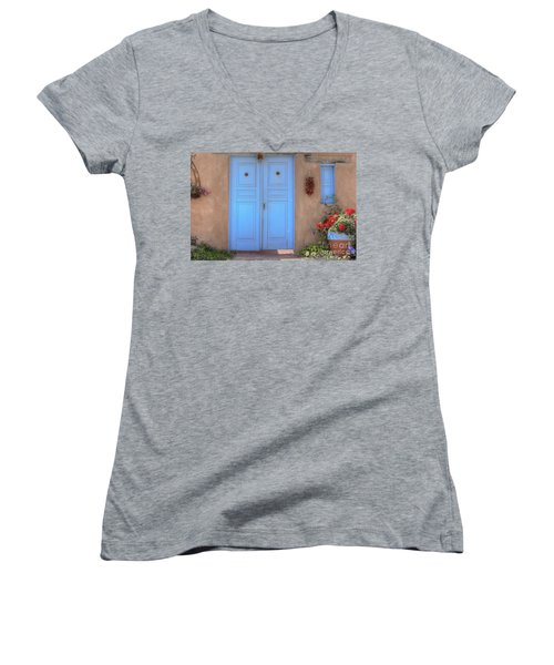 Doors, Peppers And Flowers. Women's V-Neck T-Shirt