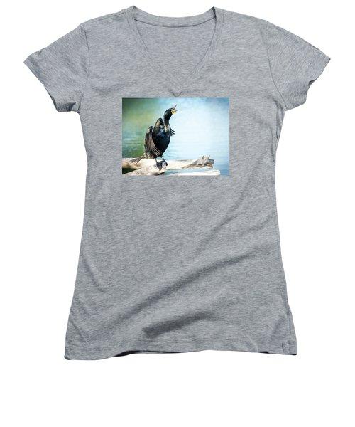 Double-crested Cormorant Women's V-Neck