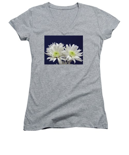 Double Dahlia Women's V-Neck