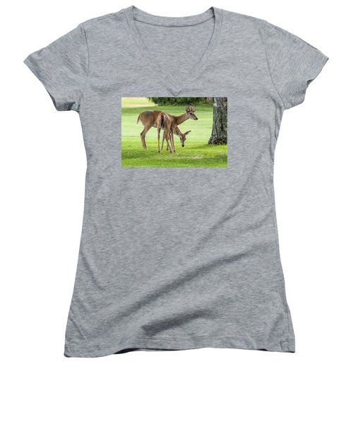 Double Deer Women's V-Neck