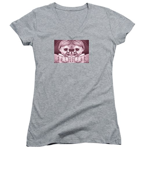 Double Trouble Two Women's V-Neck T-Shirt