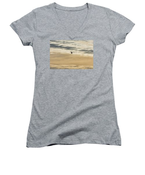 Dove In The Clouds Women's V-Neck