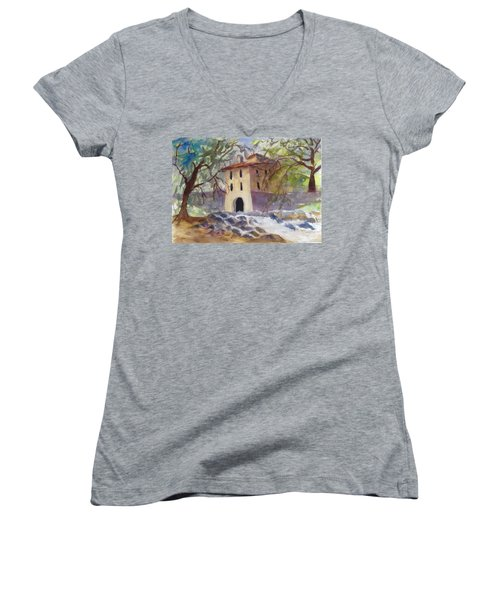 Down By The Old Mill Stream Women's V-Neck (Athletic Fit)