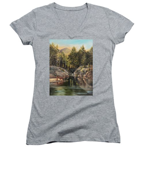 Down By The Pemigewasset River Women's V-Neck