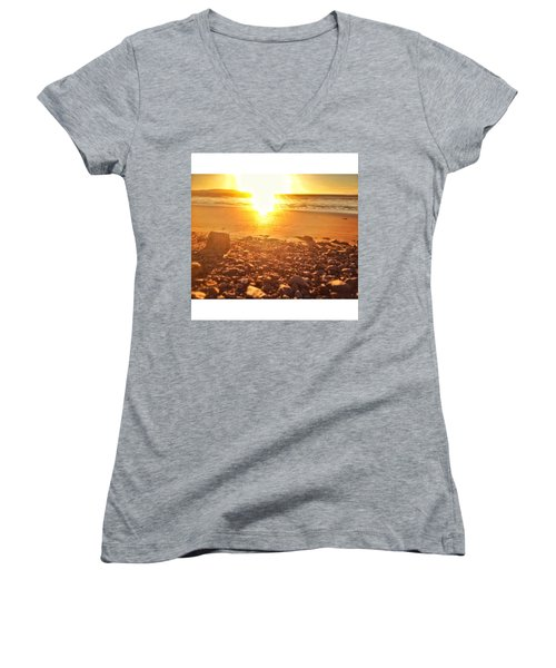 Down The Beach #beach Women's V-Neck