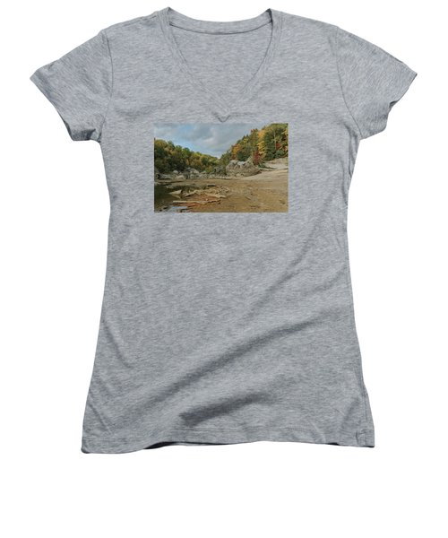 Downstream From Cumberland Falls Women's V-Neck
