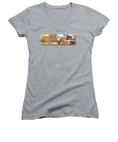 Downtown Before And Downtown After Women's V-Neck