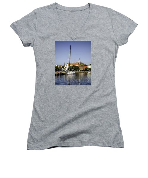 Downtown II Women's V-Neck (Athletic Fit)