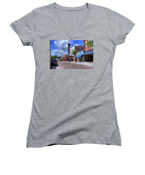 Downtown Ocala Theatre Women's V-Neck (Athletic Fit)