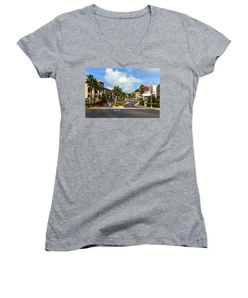 Downtown Tamuning Guam Women's V-Neck
