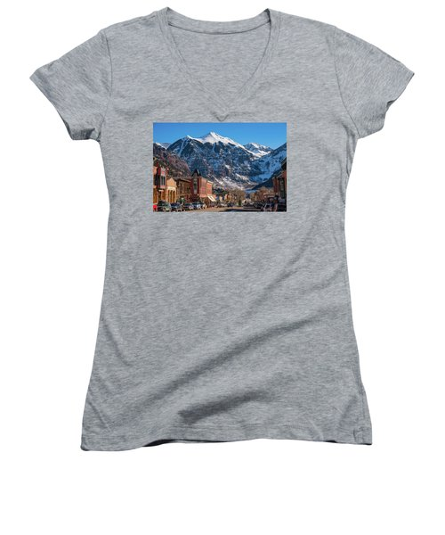 Downtown Telluride Women's V-Neck