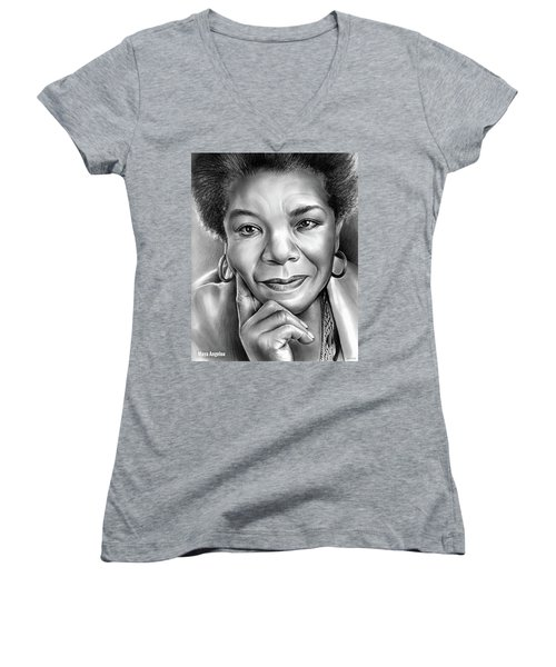 Dr Maya Angelou Women's V-Neck