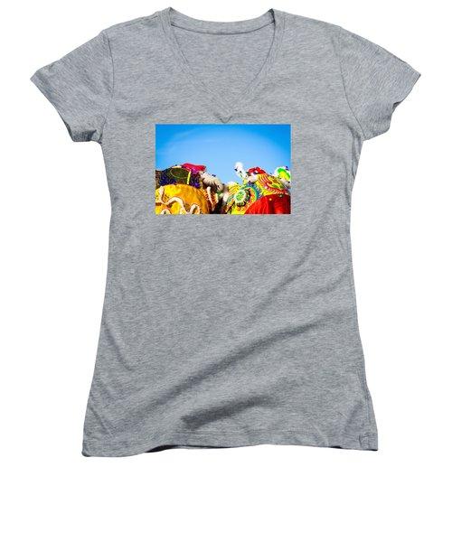 Dragon Dance Women's V-Neck T-Shirt