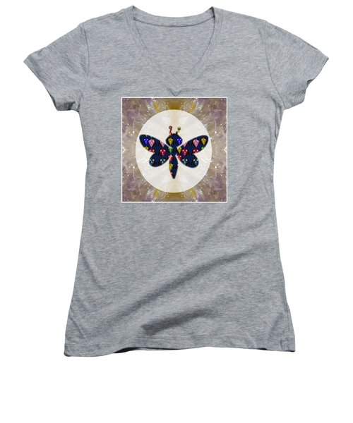 Dragon Fly Cute Painted Face Cartons All Over Donwload Option Link Below Personl N Commercial Uses Women's V-Neck T-Shirt (Junior Cut) by Navin Joshi