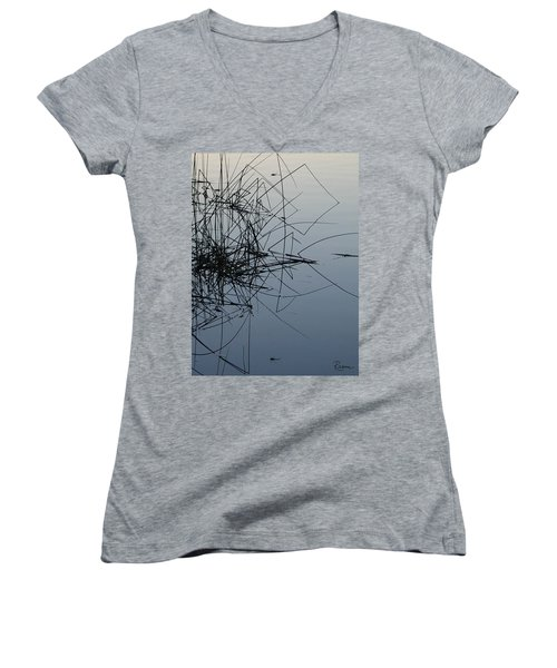Dragonfly Reflections Women's V-Neck