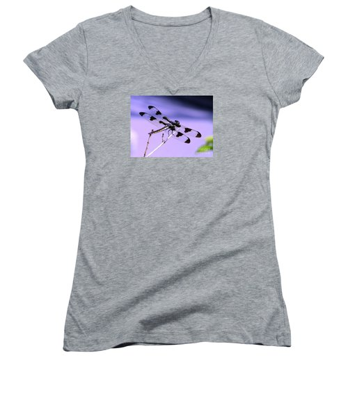 Dragonfly Women's V-Neck T-Shirt (Junior Cut) by Susan  Dimitrakopoulos