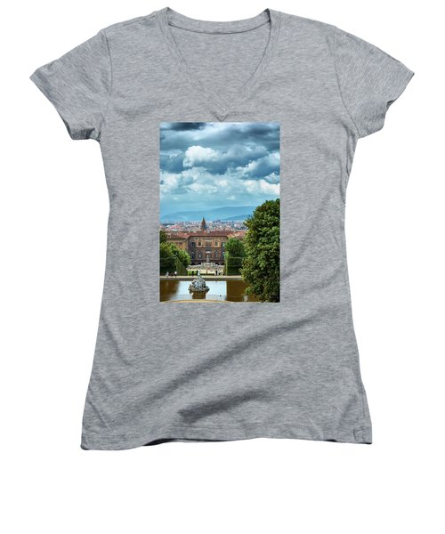 Drama In The Palace Of Firenze Women's V-Neck