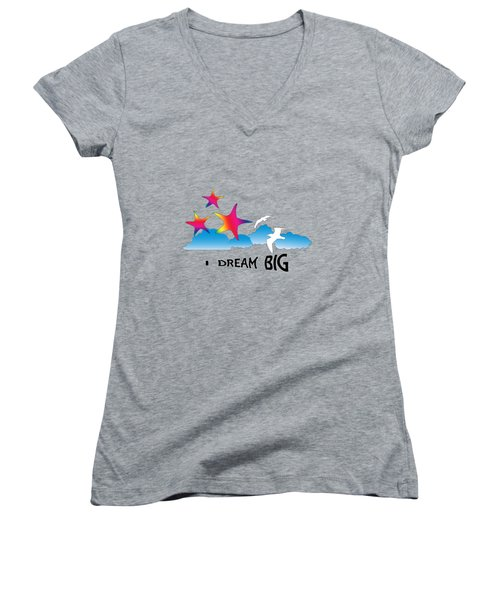 Dream Big Women's V-Neck (Athletic Fit)
