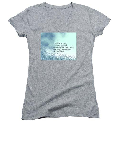 Dream Home Women's V-Neck T-Shirt (Junior Cut) by Trilby Cole