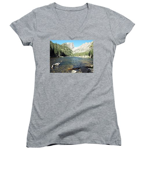 Dream Lake - Rocky Mountain National Park Women's V-Neck T-Shirt