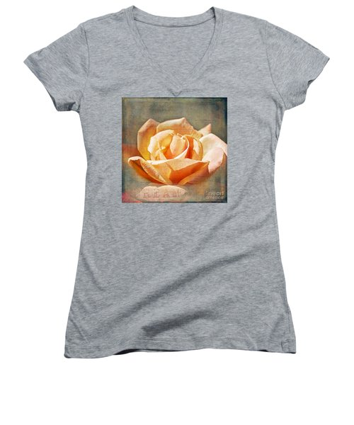 Women's V-Neck T-Shirt (Junior Cut) featuring the photograph Dream by Linda Lees