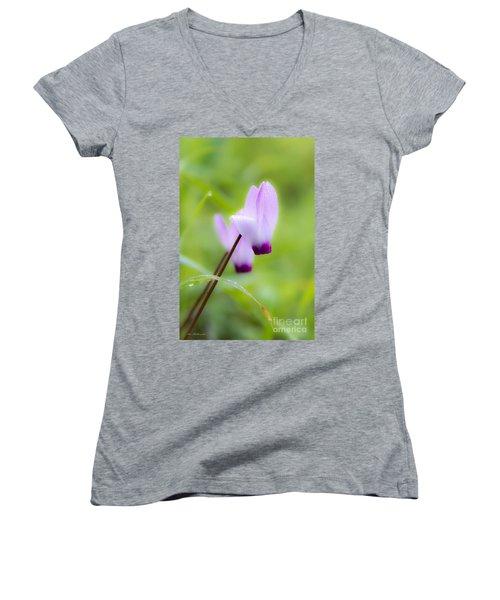 Dream On Purple Dew Drops Women's V-Neck