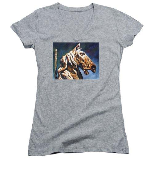 Dream Racer Women's V-Neck T-Shirt (Junior Cut)