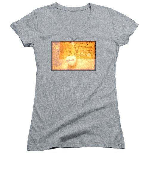 Women's V-Neck T-Shirt (Junior Cut) featuring the photograph Dream Ticket by Toni Hopper