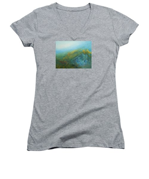 Dreaming Dreams Women's V-Neck T-Shirt (Junior Cut) by Jane See