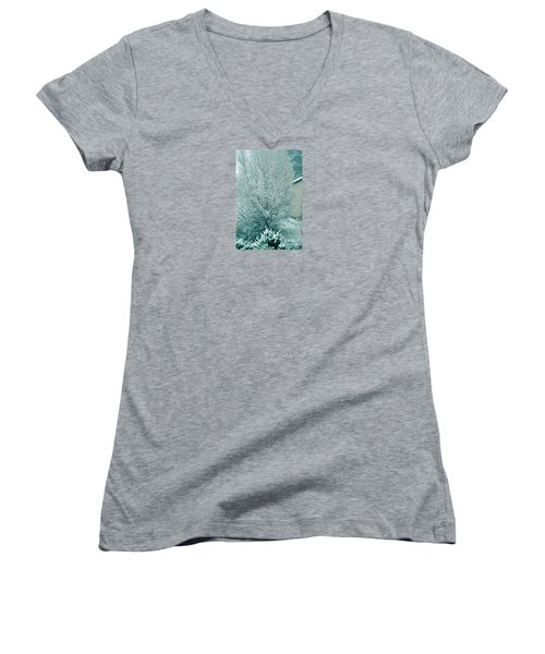 Women's V-Neck T-Shirt (Junior Cut) featuring the photograph Dreaming Of A White Christmas - Winter In Switzerland by Susanne Van Hulst