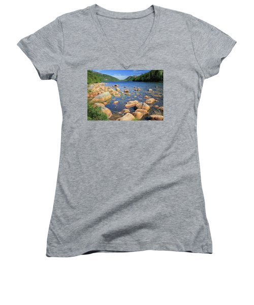 Dreaming Of Acadia Women's V-Neck (Athletic Fit)