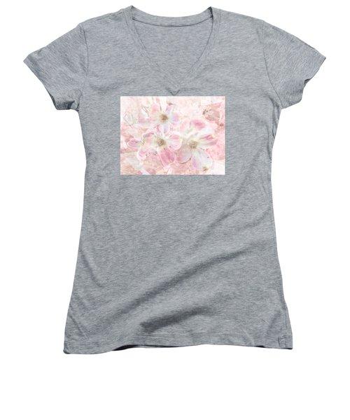 Dreaming Pink Women's V-Neck T-Shirt (Junior Cut) by Arlene Carmel