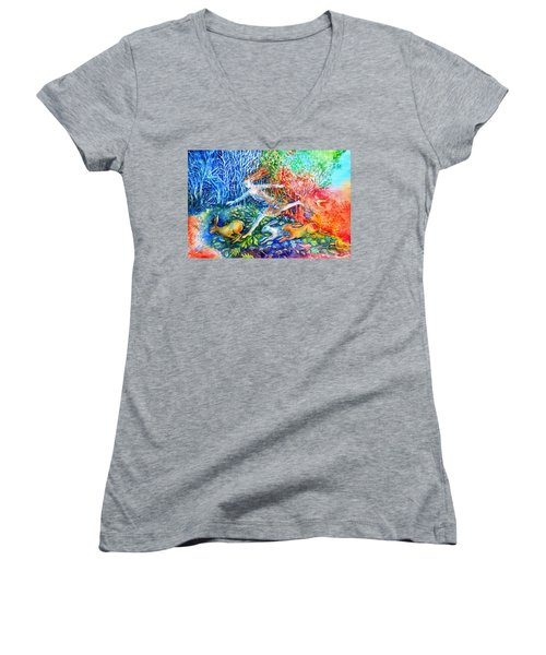Dreaming With Hares Women's V-Neck (Athletic Fit)