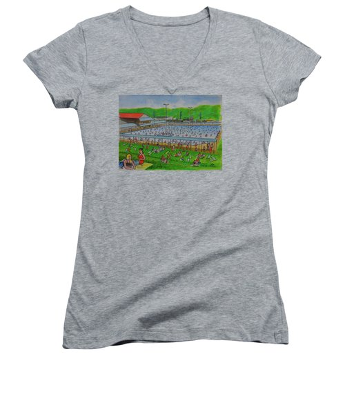 Dreamland Pool Summer 1948 Women's V-Neck